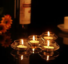 Clear Glass bowl floating tealight candle holders x 8