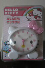 NEW Hello Kitty Alarm Clock Quartz - Adorable Pink Bow - Free Shipping