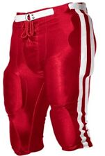 NWOT Alleson Athletic Adult 657SL Dazzle Football Pant 2XL Scarlet / White