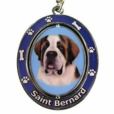 Saint Bernard Dog Spinning Key Chain Fob