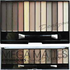 Technic Mega Matte 12 Eyeshadow  Palette Kit Natural Naked Nude Eye Makeup Girl