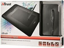 TRUST 17939 EBRUSH WIDESCREEN GRAPHICS TABLET, TILT/PRESSURE SENSITIVE 4000LPI