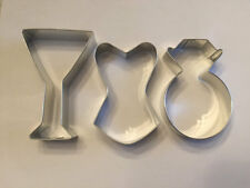 Bachelorette Cookie Cutters, Set of 3, Corset, Martini Glass, Diamond Ring