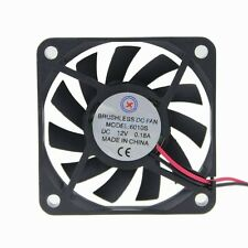 DC 12V 0.18A 3800RPM 6CM 60MM 6010S Heatsink Cooler Fan For Electronic Cooling