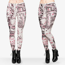 Middle Earth map soft leggings -  8 - 12 UK, cream & Red lord rings, fantasy