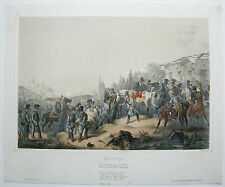 Vicenza Italia Battaglia 1848 Lombardei Lithographie 1849 Bachmann-Hohenstein