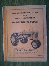 Allis Chalmers D14 Owners and Parts Manual