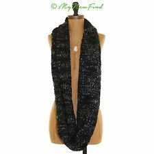 NWOT ECHO DESIGN NORDSTROM BOUCLE INFINITY SWEATER SCARF BLACK ONE SIZE B81