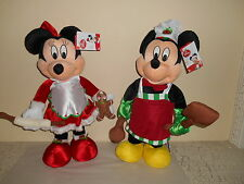 DISNEY Mickey & Minnie Mouse Plush Porch Greeters CHRISTMAS Cook Chef