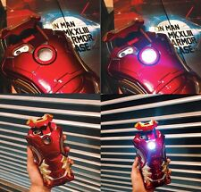 New Mark 43 MK XLIII Iron Man 3D Armor LED Hard Plastic Case For iPhone 6/6s