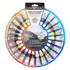Daler Rowney Multi-Technique Colour Wheel - Watercolour, Acrylic & Oil Paint x24