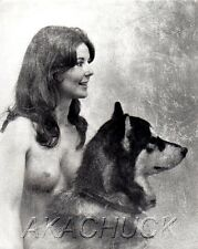 Nude & Her Good Looking Dog B & W HENDRICKSON PHOTO Original Artist Studio D#539