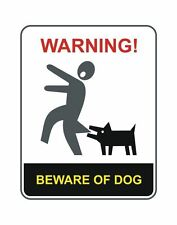Beware of the Dog Beware of Dogs Warning Sticker Decal Graphic Vinyl Label V6