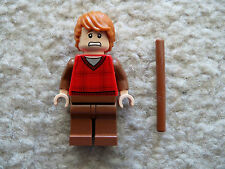 LEGO Harry Potter - Rare Ron Weasley Minifig with Wand - From 10217 Diagon Alley