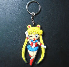 BNIP Sailor Moon keychain keyring Tsukino Usagi rubber double sided anime chibi