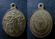 medalla religiosa antigua SAN JOAN DE LAS ABADESSAS siglo XIX  medal religious