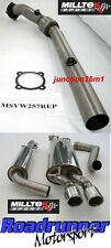 "Milltek Bora 1.8 Turbo Exhaust De Cat Downpipe & Cat Back Resonated TWIN 3"" JET"