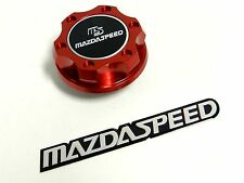 RED JDM BILLET RACING ENGINE OIL CAP FOR MAZDA + FREE EMBLEM