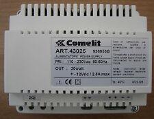 COMELIT 43025 trasformatore alimentatore 230V 12V 1,5A 2 moduli morsetti a vite