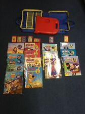 Story Reader System, Storage Case, 14 Books 7 Cartridges Lot Scooby-Doo Mickey