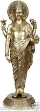 "Dhanvantari Avatar of Vishnu 19"" Brass Sculpture Statue God Hindu Figure Art 7KG"