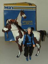 "Vintage Marx Johnny West ""Storm Cloud"" Pinto Horse with Box & Action Figure RARE"