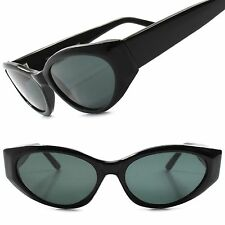Classic True Vintage Deadstock 70s 80s Womens Black Stylish Cat Eye Sunglasses