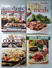 Lot 4 Taste Home HC Cookbook: 2005 Quick, 2009 Healthy, School, Every Day Light