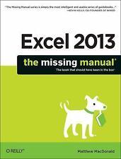 Excel 2013: The Missing Manual, MacDonald, Matthew, Good Book