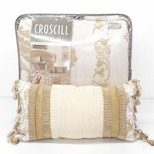 CROSCILL Monroe Ivory QUEEN COMFORTER SET 5pc NWT Scroll Floral Gold PILLOW!