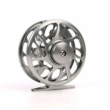 2/3WT Fly Fishing Reel T6 Aluminum CNC Machined Large Arbor Gunsmoke Dia-68mm