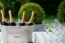 KRUG CHAMPAGNE DOUBLE MAGNUM COOLER BUCKET VASQUE  PEWTER NEW IN  BOX