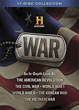 WAR COLLECTION 17 DVD History Channel Civil War World War I II Korea Vietnam