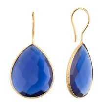 18K Gold Plated Earrings Red Blue Green Black Gold Silver Color Onyx Pear Drop