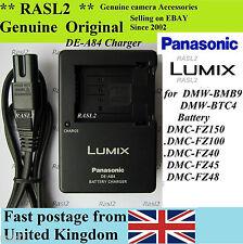 Genuino, originale, Caricabatteria Panasonic DE-A84 DMW-BMB9E DMC-FZ150 DMC-FZ100 DMC-FZ40