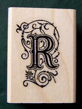 Monogram letter R rubber stamp WM P29