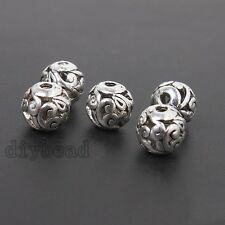 20pcs Tibetan Vintage Silver Hollow Flower Rattan Alloy Loose Spacer Beads HOT D