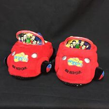The Wiggles Big Red Car Sock Top Slippers Toddler Kids Boys Large 9-10 Greg Jeff