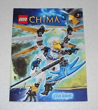 LEGO LEGENDS OF CHIMA 70201 Chi Eris libretto Instruction Manual Booklet MANUALE