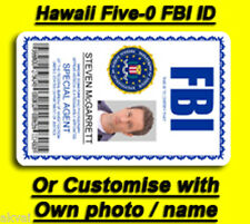 Hawaii Five-O Steve McGarrett Inspired FBI PVC ID Card - COSPLAY