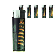 Famous Landmarks D8 Lighters Set of 5 Electronic Refillable Leaning Tower Pisa