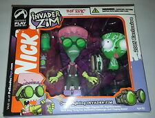 Invader Zim & Gir Germ Fighting Figure Set Palisades Hot Topic Exclusive Sealed