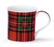 Lovely Traditional Royal Stewart Tartan Dunoon Fine Bone China Mug Bute Shape