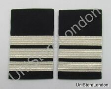 Epaulette Pilot Captain First officer Silver3 Bars R333