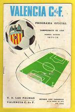 ORIG. prg 1. liga española 71/72 valencia cf-ud las palmas raras veces!!!