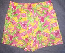 Lilly Pulitzer Casual/Walking Shorts 'Tiki Hut' Women's Size 8 Pink Tropical GUC