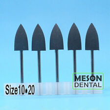 20 Pcs Dental Lab gray Silicone Rubber Rotary Polishing Burs 2.35mm 10*20 IT #