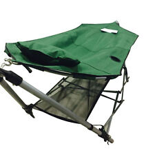 High Quality Portable Folding Porch Camping Hammock Lounge Bed Cot with Stand US