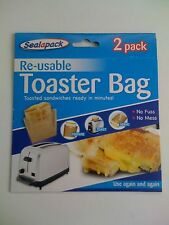 Re-usable Toaster Bag 2 Pack Use Again & Again No Mess 151 Sealapack