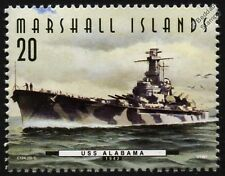 USS ALABAMA (BB-60) South Dakota Class Battleship Warship Stamp (1997)
